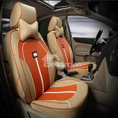 Environmental Breathable PU material Car Seat Cover
