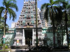 Hindoe tempel in Singapore.
