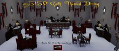 Sims 4 CC's - The Best: Goth Themed Dining Set by sg5150