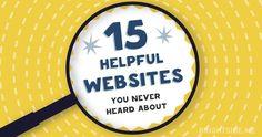 15helpful websites that you've never heard of