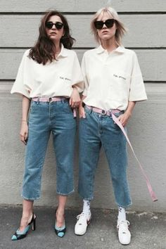 Oversized Polos Are Back; Here's How To Wear Them According To Instagram #refinery29  http://www.refinery29.com/polo-shirts-oversized-trend-photos#slide-2  Wear it with jeans and heels or sneakers. ...