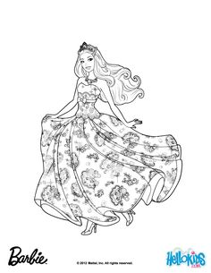 Princess Tori Barbie Coloring Page More The Popstar Pages On