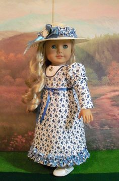 Caroline's Visiting Outfit / Clothes for American Girl Caroline or Josephina