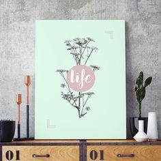 Poster ou Tela MDF - Life Pastel - Decohouse