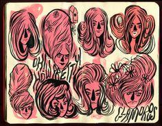 Krista Perry Sketchbook No. 4 #illustration #sketchbook #moleskin in Illustration