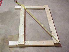 Checking diagonal measurements to ensure square frame.