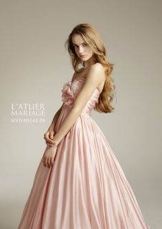 Pretty like a prom dress not so much wedding but s'pose it might be bridesmaid worthy. Pretty Prom Dresses, Blush Dresses, Dressy Dresses, Princess Wedding Dresses, Colored Wedding Dresses, Bridal Dresses, Bridesmaid Dresses, Pink Colour Dress, Pink Dress
