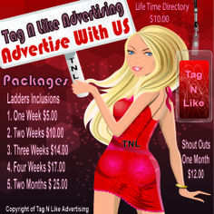 Our REGULAR advertising prices but always check with us as we always have a promotional special running most of the time come join us we would love to add you to our family at www.facebook.com/tagnlike or email us at tagnlike@shaw.ca