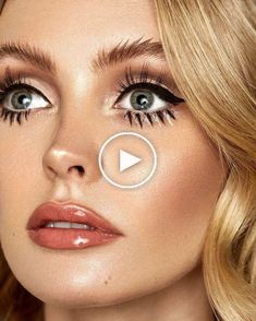 """""""Retro Makeup by 70s Makeup, Retro Makeup, Red Eyeshadow, Party Hairstyles, Twitter, Makeup Looks, Make Up, Hair Styles, Valentines"""