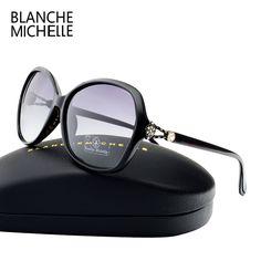 2017 High Huality Gradient Lens Sunglasses Women Polarized Brand Designer UV400 Sun Glasses Woman Diamond Decoration With Box