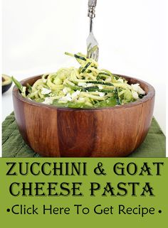 Zucchini & Goat Cheese Pasta I personally like this dish, not only because it is super delicious but also I consider it a balanced meal. You can prepare and cook appetizing meal for your family in less than Pasta Recipes, New Recipes, Cooking Recipes, Healthy Recipes, Healthy Options, Favorite Recipes, Healthy Junk, Healthy Eating, Healthy Life