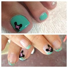 My Disney nails :) why isn't Megan O'Neil and Sara Velez closer so you can do this for me? Pedicure Nail Art, Gel Nail Art, Nail Polish, Pedicure Ideas, Nail Ideas, Love Nails, Pretty Nails, Fun Nails, Toe Nail Color