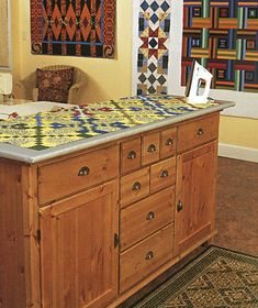 Creating-Your-Perfect-Quilting-Space-3 - Pressing station on wheels?
