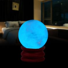 The ball and base can be separated. You can only pick up the orb for craft DIY. The night luminous ball is a stone that can glowing at night, Absorb natural light or lights at night and give off bluish light. | eBay!
