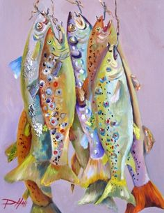 Fresh Fish, painting by artist Delilah Smith - fish Watercolor Fish, Watercolor Paintings, Original Paintings, Watercolors, Watercolor Ideas, Kunst Poster, Art Textile, Beach Art, Painting & Drawing