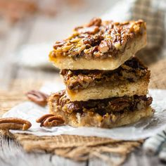 Pecan Recipes, Baking Recipes, Cookie Recipes, Dessert Recipes, Best Pecan Pie, Pecan Pie Bars, Just Desserts, Delicious Desserts, Yummy Food