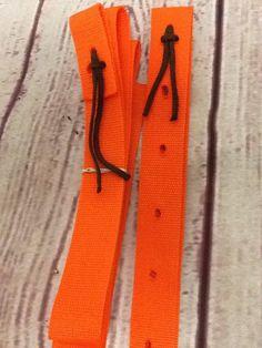 Cinch strap, colored cinch, colored cinch strap, horse tack, orange horse tack by TiffanysBraidedTack on Etsy