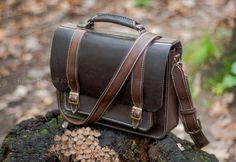 Купить Небольшой портфель Денди - коричневый, мужской портфель, классический портфель, мужской подарок