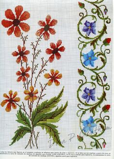 Gallery.ru / Фото #2 - Vintage Spanish - Realce - Dora2012 Cross Stitch Needles, Cute Cross Stitch, Cross Stitch Borders, Cross Stitch Flowers, Cross Stitch Designs, Cross Stitching, Cross Stitch Embroidery, Cross Stitch Patterns, Cross Stitch Pictures