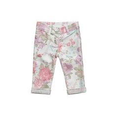 Girls Floral Jeans (1.178.900 IDR) ❤ liked on Polyvore featuring kids, baby clothes, baby girl clothes and children