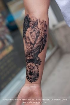 Roman Angel Tattoo