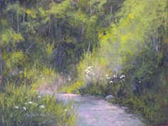 """Along The Path#4 by Kathy McDonnell Pastel ~ 9"""" x 12"""""""