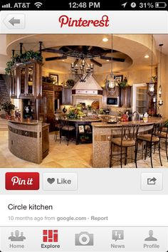 Awesome round kitchen