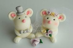 MICE MOUSE BRIDE AND GROOM WEDDING CAKE TOPPER ENGAGEMENT ANNIVERSARY | eBay