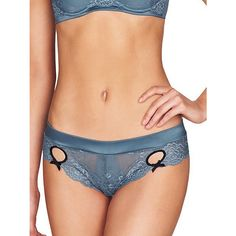 Buy Heidi Klum Intimates Zoe Thong, Blue, S Online at johnlewis.com