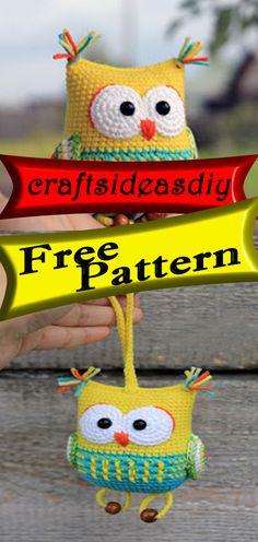 Amigurumi Owl Free crochet pattern craftsideasdiy.com #crochet,#free,#patterns,#freepattern,#diy,#crafts,#knitting,#freepatterncrochet,#freepattern,#freecrochet,#freecrafts,#patterncrochet,#diycrochet,#craftscrochet,#patternknitting