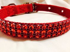 Economy Sparkling Red Bling Collar. by DogFabulous on Etsy