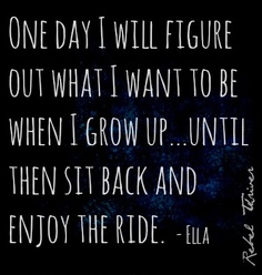 Enjoy the ride quote via Rebel Thriver at www.Facebook.com/RebelThrivers