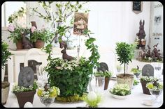 Beautiful Easter tablescape by Karen in Simi Valley, CA. Image from The Old Painted Cottage ~ Cottage of the Month April 2012