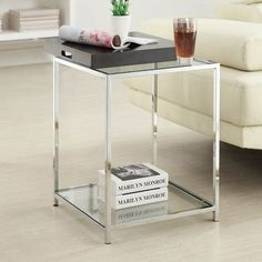 Convenience Concepts Palm Beach End Table Finish: Black