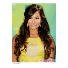 Demi Lovato Curly Half Up Hairstyle - Demi Lovato Hairstyles Pictures found on Polyvore