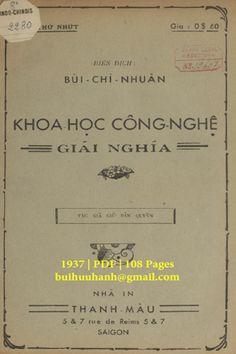 Khoa Học Công Nghệ Giải Nghĩa Cuốn 1 (NXB Thạnh Mậu 1937) - Bùi Chí Nhuận, 108 Trang | Sách Việt Nam Personalized Items