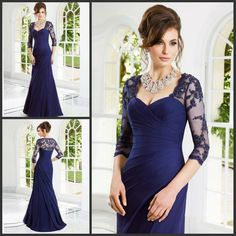 Cheap dress asos, Buy Quality dress quotes directly from China dress trade Suppliers: 2014 New Style High Quality Mermaid Straps Appliques Floor Length Chiffon Elegant Mother of the Bride Dresse Mob Dresses, Bride Dresses, Formal Dresses, Vestido Asos, Vestidos Mob, Vintage Lace, Mother Of The Bride, Mermaid, Chiffon