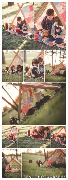 fall vintage camping theme photo shoot portraits kids brother sister colorado springs family portrait photographer