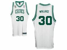 ... Green Jersey NBA Boston Celtics 30 Rasheed Wallace Champion Patch White  Jersey ... 362733fbf