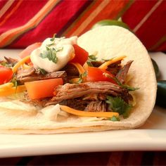 """Mijo's Slow Cooker Shredded Beef I """"Words cannot describe how flavorful and delicious this shredded beef is. We absolutely love it. I like to eat it in corn tortillas."""""""