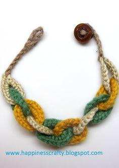 Circles Bracelet free crochet pattern