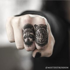 finger tattoos on animals