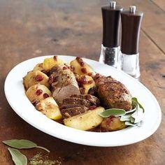 Recipes | Pork Tenderloin with Apples and Cranberries | Sur La Table