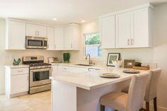 Classic Contemporary Small Kitchen with Quartz Countertops