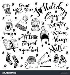 Resultado de imagem para winter doodle cute