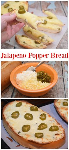 Need a recipe for the Big Game or your next football party? Your guests will devour this easy Jalapeno Popper Bread perfect for the Big Game! Source by Superbowl Food Yummy Appetizers, Appetizer Recipes, Snack Recipes, Snacks, Jalapeno Poppers, New Recipes, Favorite Recipes, Yummy Recipes, Super Bowl Essen