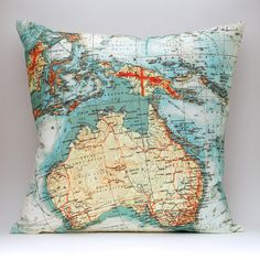 aussie map cushion cover.. Front and centre, right where it should be ;-)