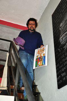 Francesco Le Mat alla libreria Onde di carta a Trevignano Romano.