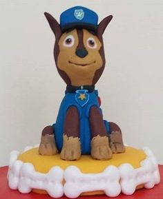 Paw Patrol Chase fondant - like the stand only