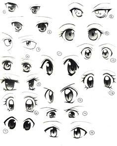 Anime Eyes Practice by saflam.deviantart.com on @deviantART